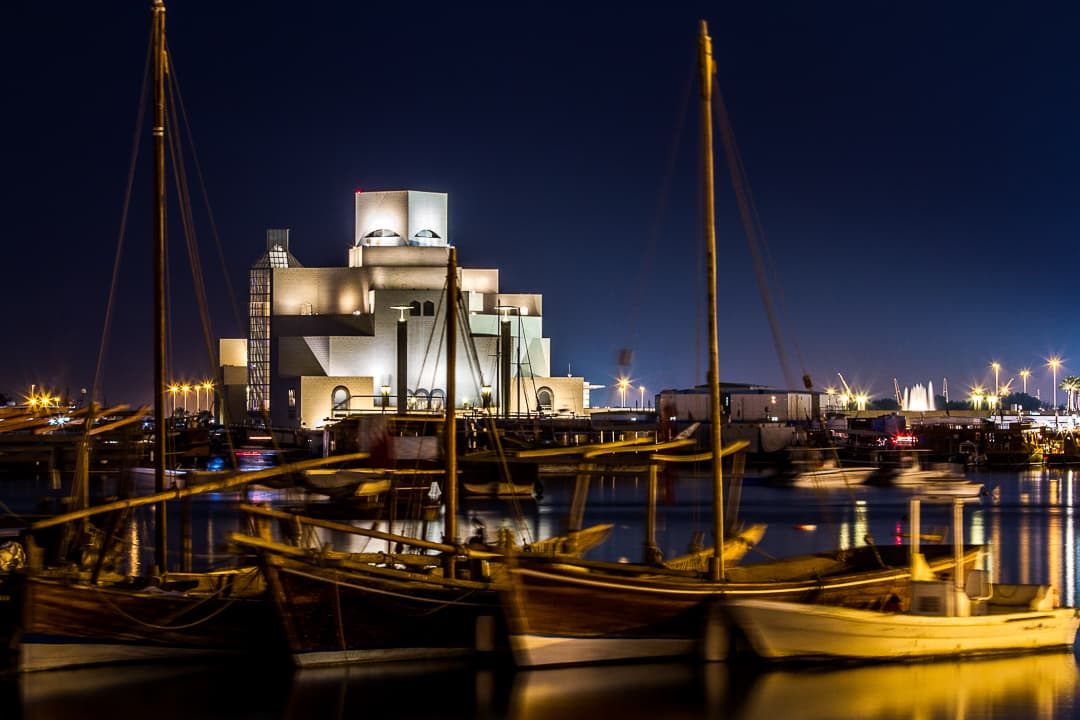 series outside landscape cityscape photo by taspho photography-old harbour doha at night